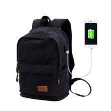 2019 Casual College Laptop Backpack USB Charging Anti Theft Backpack Men Travel Backpack Canvas School Bag Male Mochila Vintage цены