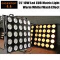 Tp-m25 branco 25 cabeça led audiência pixel matrix blinder luz led blinder 25 warm white 300 w professional stage efeito de lavagem luz