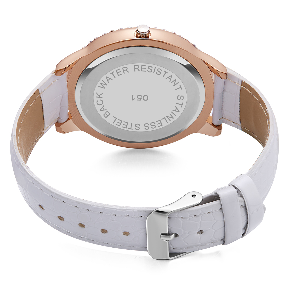 Image 4 - Dropship New Fashion Ladies Leather Crystal Diamond Rhinestone Watches Women Beauty Dress Quartz Wristwatch Hours Reloj MujerWomens Watches   -