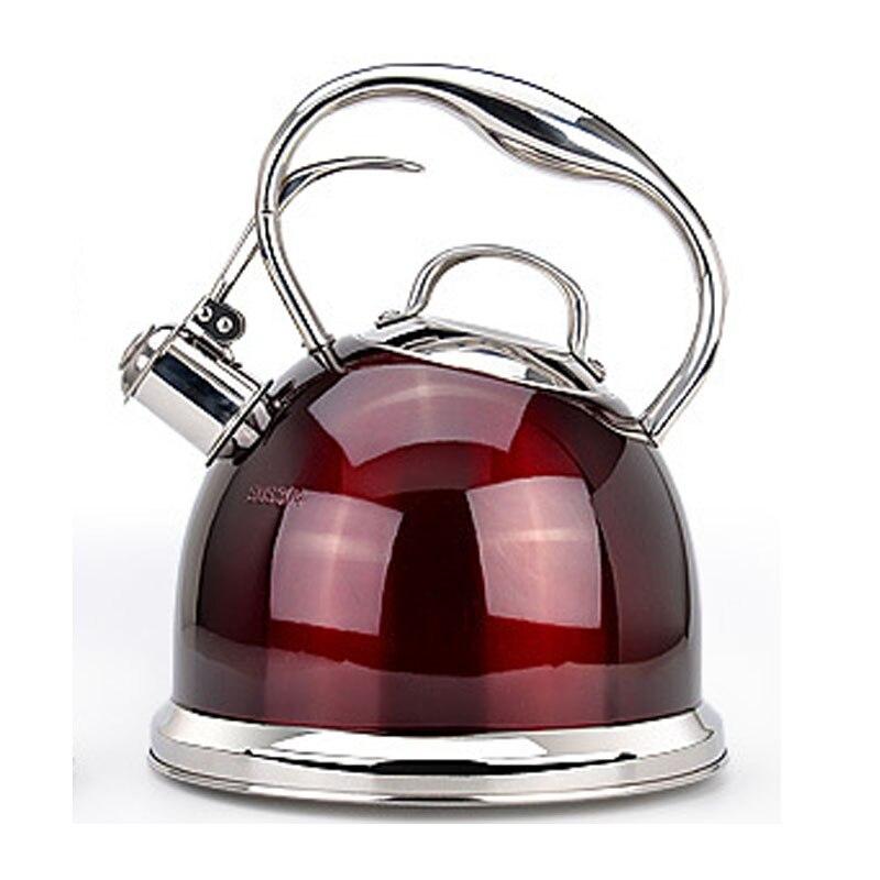 Théière inox gaz européen cuisinière à induction gaz bouilloire domestique universelle thé 3L