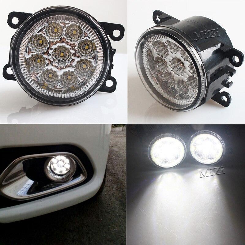 1 SET 6000K 12V 9LED Fog Lamps DRL Car-styling For Peugeot 207 307 407 607 3008 SW CC VAN 2000-2013 lighting LED Lights 9W Best for peugeot 207 sw estate wk