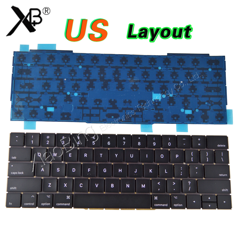 NEW A1706 Keyboard US USA English Backlight Backlit for Macbook Pro Retina 13 A1706 2016 2017year MLH12 MPXV2 EMC3071 EMC3163 new a1706 keyboard uk english eu euro backlit backlight for macbook pro 13 3 retina 2016 2017 mlh12 mpxv2 emc3071 emc3163