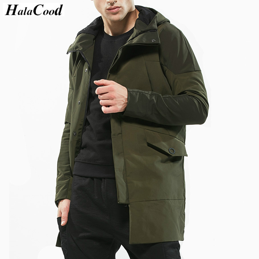 Hot Sell Male Army Green Quality Jackets Mens Trench Coat New Fashion Designer Men Long Coat Autumn Windproof Slim Trench Coat army green trench coat with drawstring waist