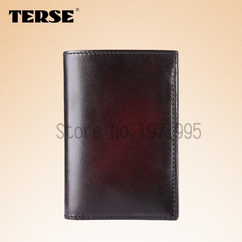 TERSE New arrival Genuine Leather font b Wallet b font font b Men b font Short