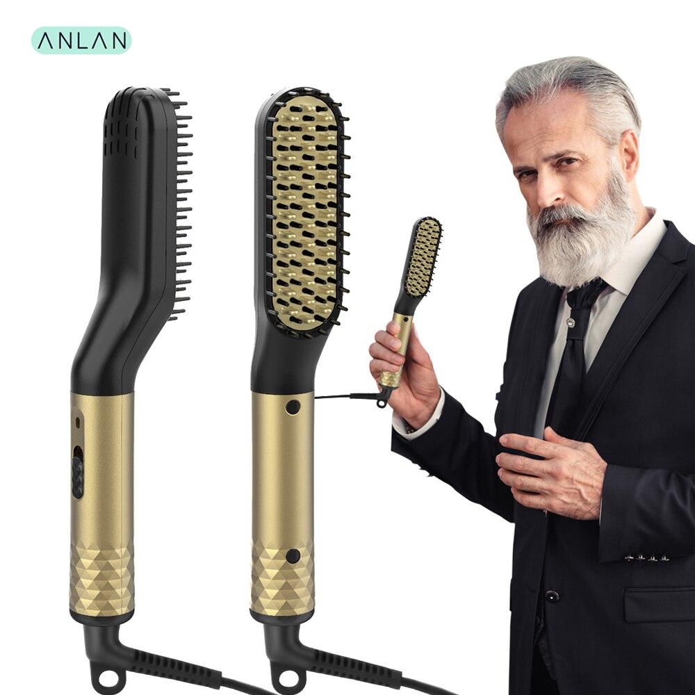 Beard Straightener Multifunctional Hair Beard Straightening Comb Quick Styler for Man escova de cabel Men Hair