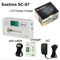 Soshine Charger SC-S7 LCD Display Battery Charger with USB Input for Charger Li-ion 18650 14500 Charger, Ni-MH AA AAA with box