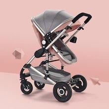 Baby Stroller Light High Landscape Four Wheels Reclining Folding carriage