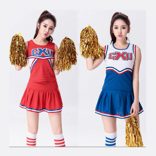 Female Sexy High School Cheerleader Costume Girl Sportswear Aerobics Dance Cheer Girls -2330
