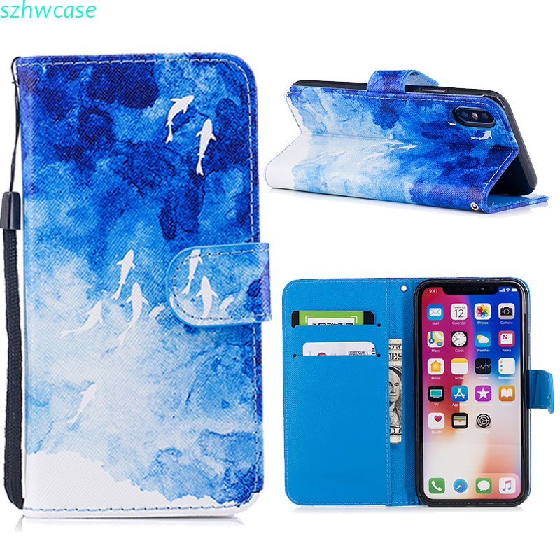 Flip Leather Case For iPhone X 10 Card Slot Stand Wallet Case For iPhone 6 6s 7 8 Plus Cover For Samsung S9 S8 Plus S9 Plus Capa