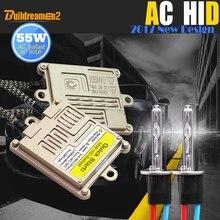 Buildreamen 55W 9005 9006 880 881 H1 H3 H7 H8 H9 H11 9012 otomatik HID Xenon kiti 4300K AC balast ampul araba ışık ön far sis lambası