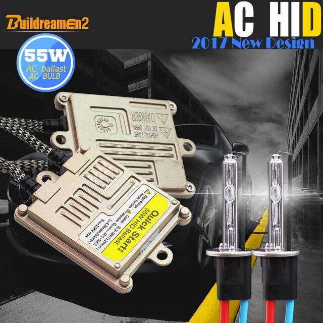Buildreamen2 55 Вт 9005 9006 880 881 H1 H3 H7 H8 H9 H11 Авто HID Xenon комплект 4300 K балласт переменного тока лампы свет фар автомобиля DRL Противотуманные фары