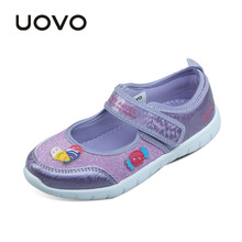 UOVO 2017 new kids shoes fashion girls princess casual shoes light brand little girls dress shoes for school spring summer