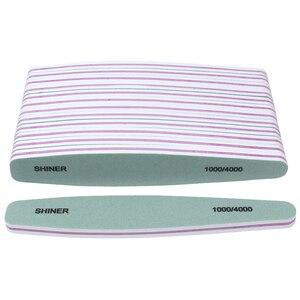 5 шт./компл., Зеленый/Белый буфер для дизайна ногтей, пилка для ногтей 1000/4000, полировка, пилочки для профессионального маникюра, аксессуары дл...