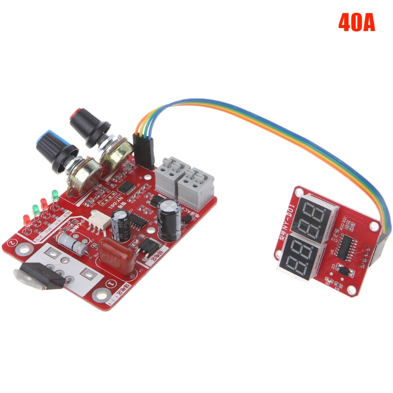 40A Current Controller Spot Welder Time Control Board with Digital Display