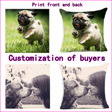 Both sides printing Pillow cover Fahion Design Picture here Print pillowcase Pets, etc. photos customize gift home cushion cover personality creative design customers photos uv printing customize wooden watch customization laser print oem great gift watches