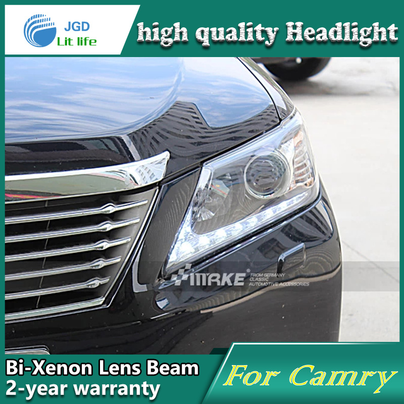 Car Styling Head Lamp case for Toyota Camry 2011-2013 Headlights LED Headlight DRL Lens Double Beam Bi-Xenon HID Accessories for toyota camry led headlights car styling 2015 for camry xenon headlights led drl light guide bifocal lens headlight light