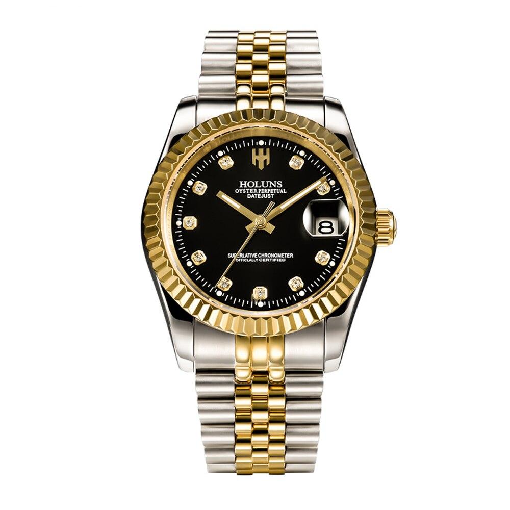 Luxury brand holuns Mens mechanical watches role automatic watch waterproof fashion Military Wrist Watch sport male