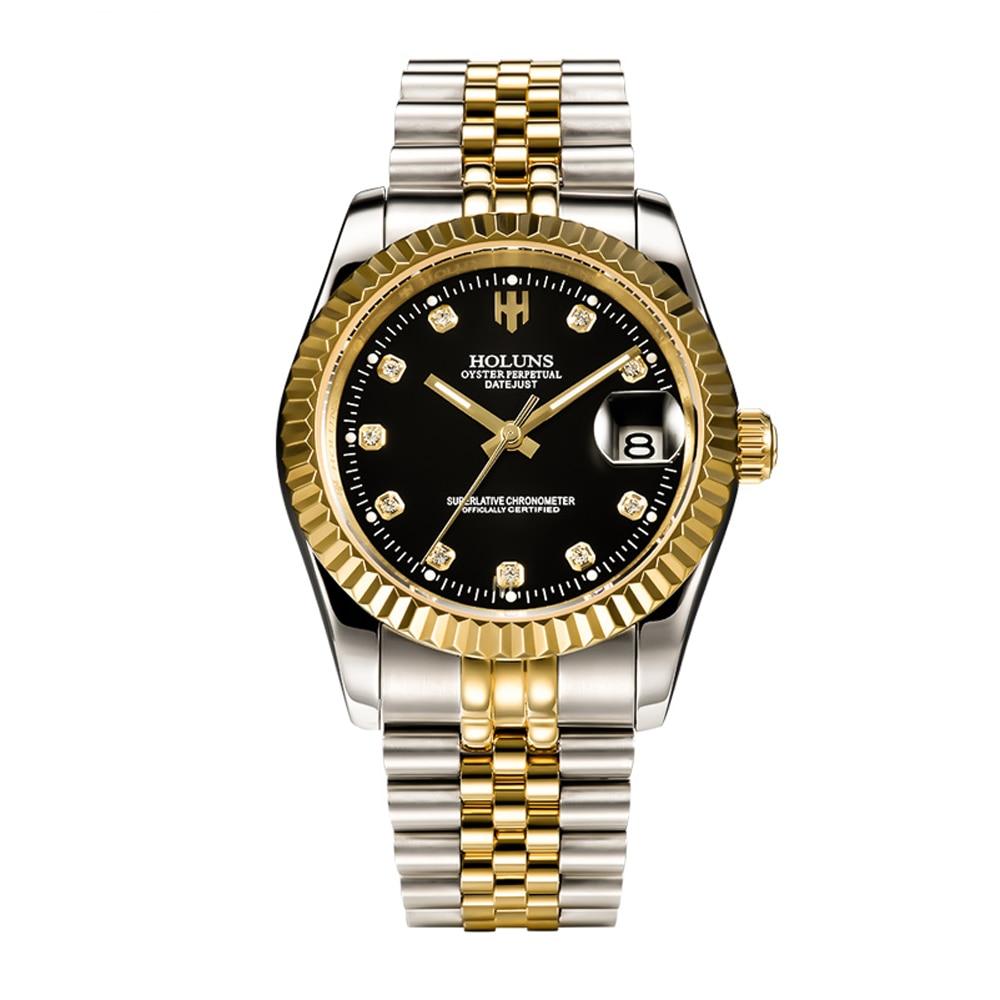 Marque de luxe holuns hommes montres mécaniques rôle montre automatique étanche mode militaire montre bracelet sport mâle horloge-in Montres mécaniques from Montres    1