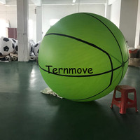 pvc beach basketball for kids game helium advertising promotion for sport event 1.5m 2m 2.5m giant Inflatable basketball balloon