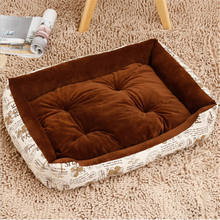 Dog Bed Sofa Cartoon Cute Puppy Bedding Warm Soft Cozy Pet Cat House Cushion Cover Dogs Houses Kennel