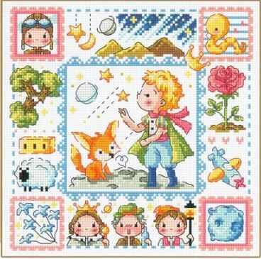 Gold Collection Lovely Counted Cross Stitch Kit The Little Prince Boy and Fox Fairytale Fairy Tale Fairyland SO