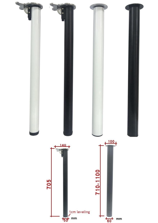 - White Black Folding/Height Adjustable Bar Table Desk Bench Top Leg