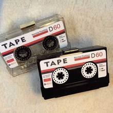 Neue Spaß Designer Vintage Kassetten Hartes Fall Transparent Abendtasche Clutch acryl modellierung mini umhängetasche