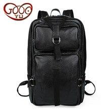 Для мужчин и горе Для мужчин черный альпинизм мешок большая емкость из натуральной кожи модная сумка вертикальный разрез площадь сплошной цвет trav