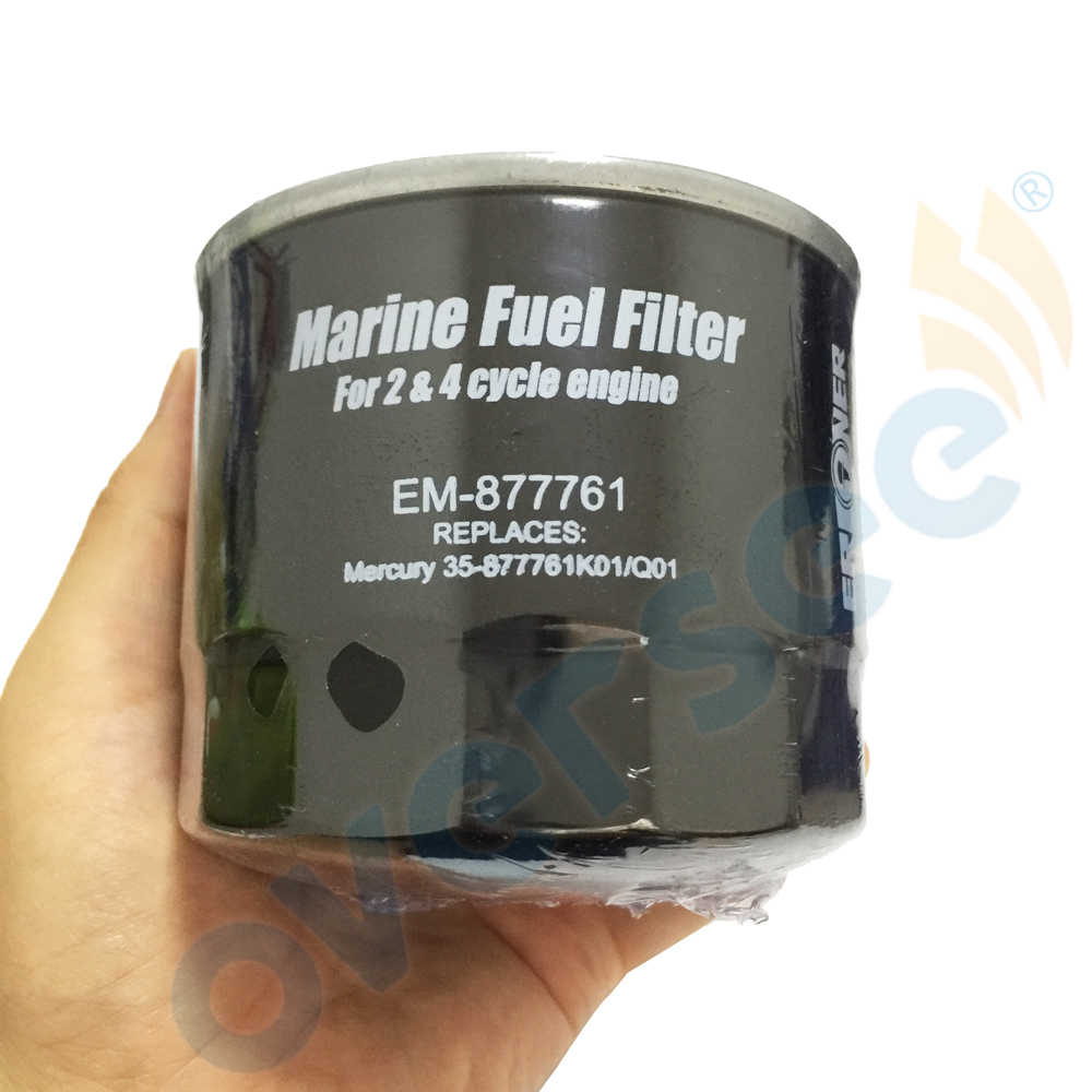 OVERSEE EM-877761 Outboard Oil Filter For Mercury Mariner 75-115hp (35-877761Q01/35-877761K01)Outboard Engine