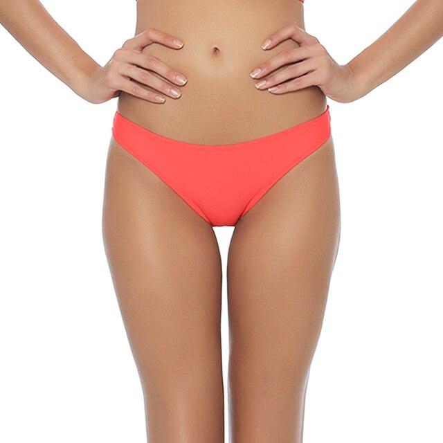 c8528e92483 M&M Pink Solid Bikini Bottom Sporty Women Beach Swim Pants Sexy 2017 Low  Waist Girls Swim Briefs Brazilian Swim Bottom Shorts