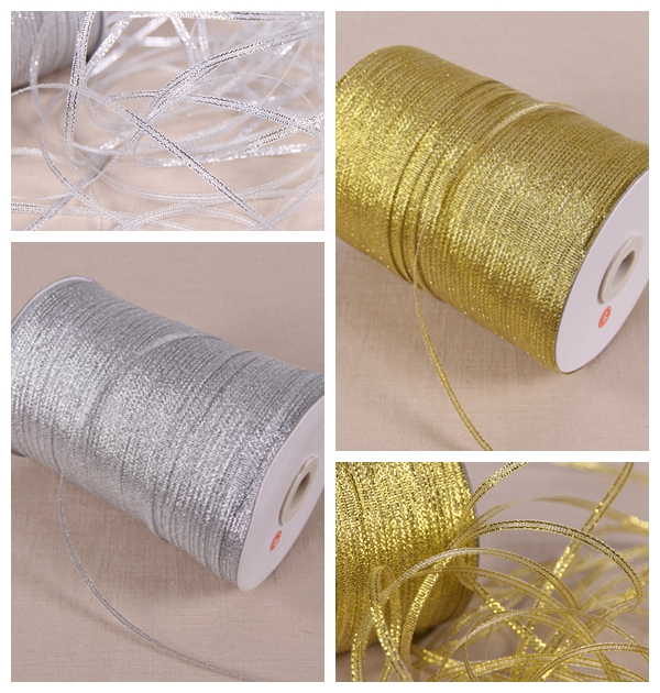 20yards 3mm silver gold silk satin ribbon party home wedding decoration gift wrapping christmas new year