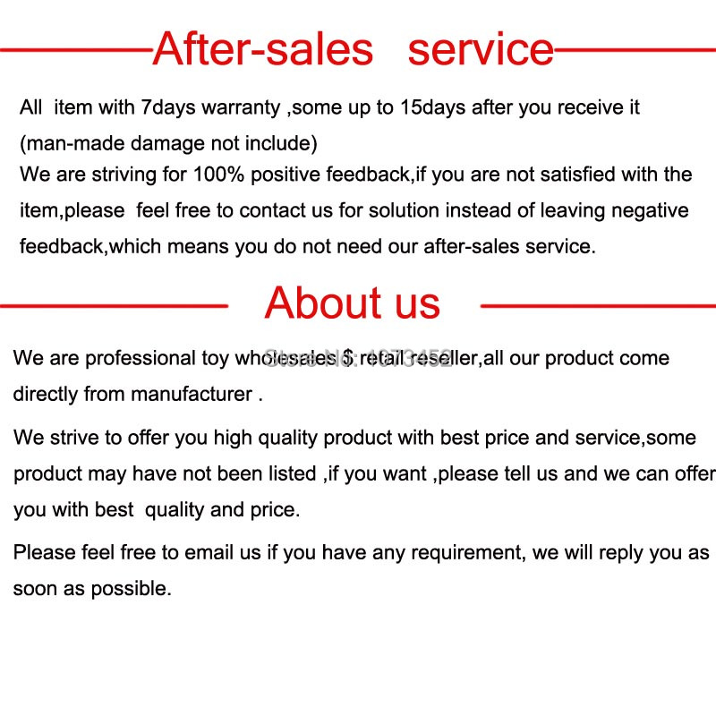 after-sales service about us