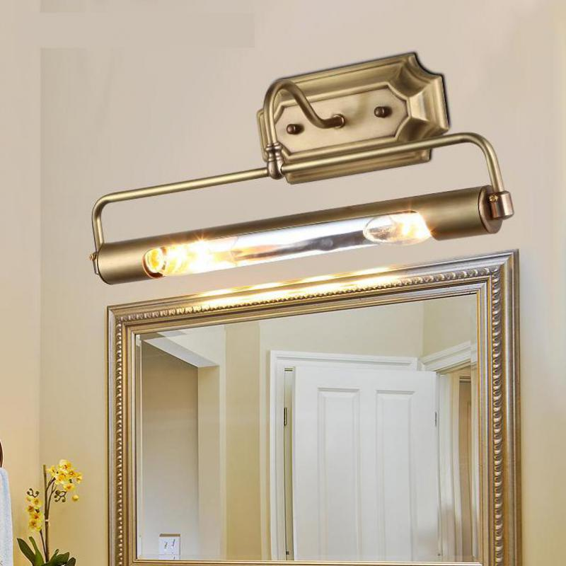 Salle de bains or miroir frant lumière Long tube antirouille applique murale pour Dressing projet placard mural Led miroir lumière