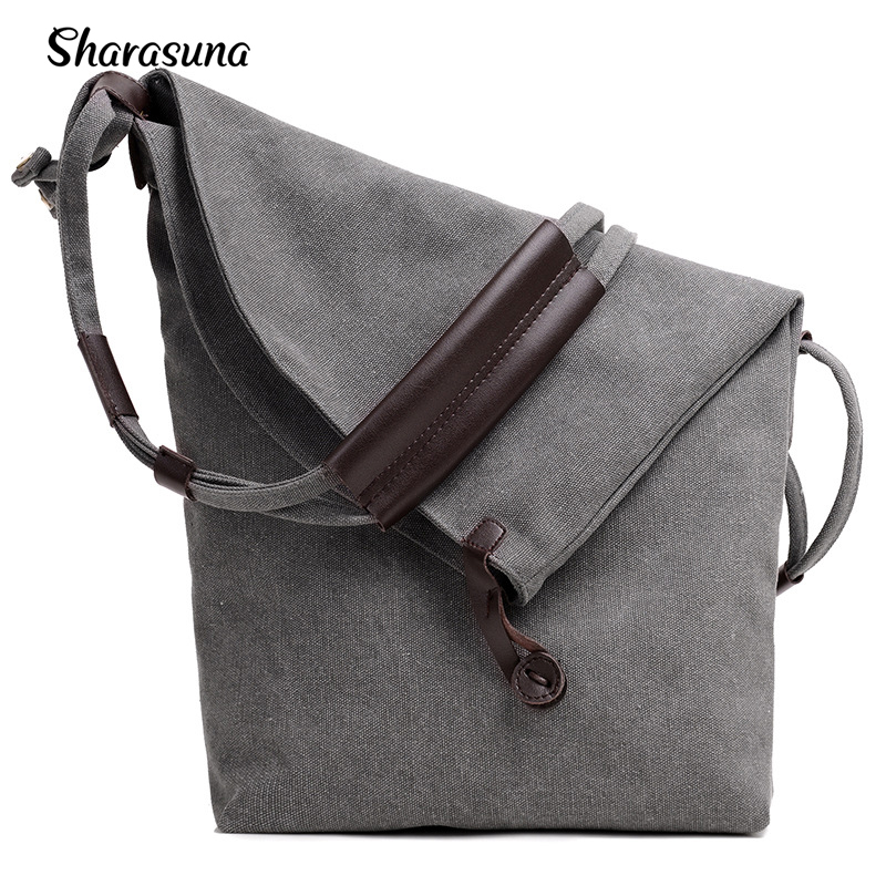 Women's Canvas Handbags Hobos Crossbody Shoulder Bags Vintage Solid Ladies Totes Bag Woman
