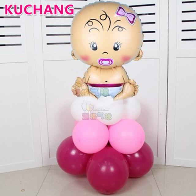 17 шт./партия, Детские латексные воздушные шары из фольги для маленьких мальчиков и девочек, украшения для дня рождения, розовые, синие шары