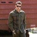 Ejército libre de Marca Otoño Moda Masculina Camisas de Manga Larga A Rayas Camisas del Mens Nuevo Diseño Blusas Camisas Casuales para Hombres MS-6029