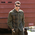 Free Army Brand Autumn Fashion Mens Shirts New Design Blusas Camisas Masculina Long Sleeve Striped Casual Shirts for Men MS-6029
