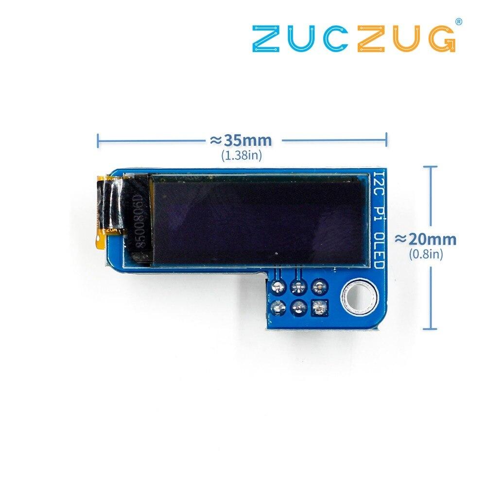 PiOLED I2C 0.91inch OLED 128x32 SSD1306 Blue For RPI Raspberry Pi 1, B+, Pi 2, Pi 3 And Pi Zero