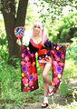 Free Shipping! Newest! Anime Japanese Super Sonic SummerFair Lolita Kimono Cosplay Costume ,Perfect custom for you!