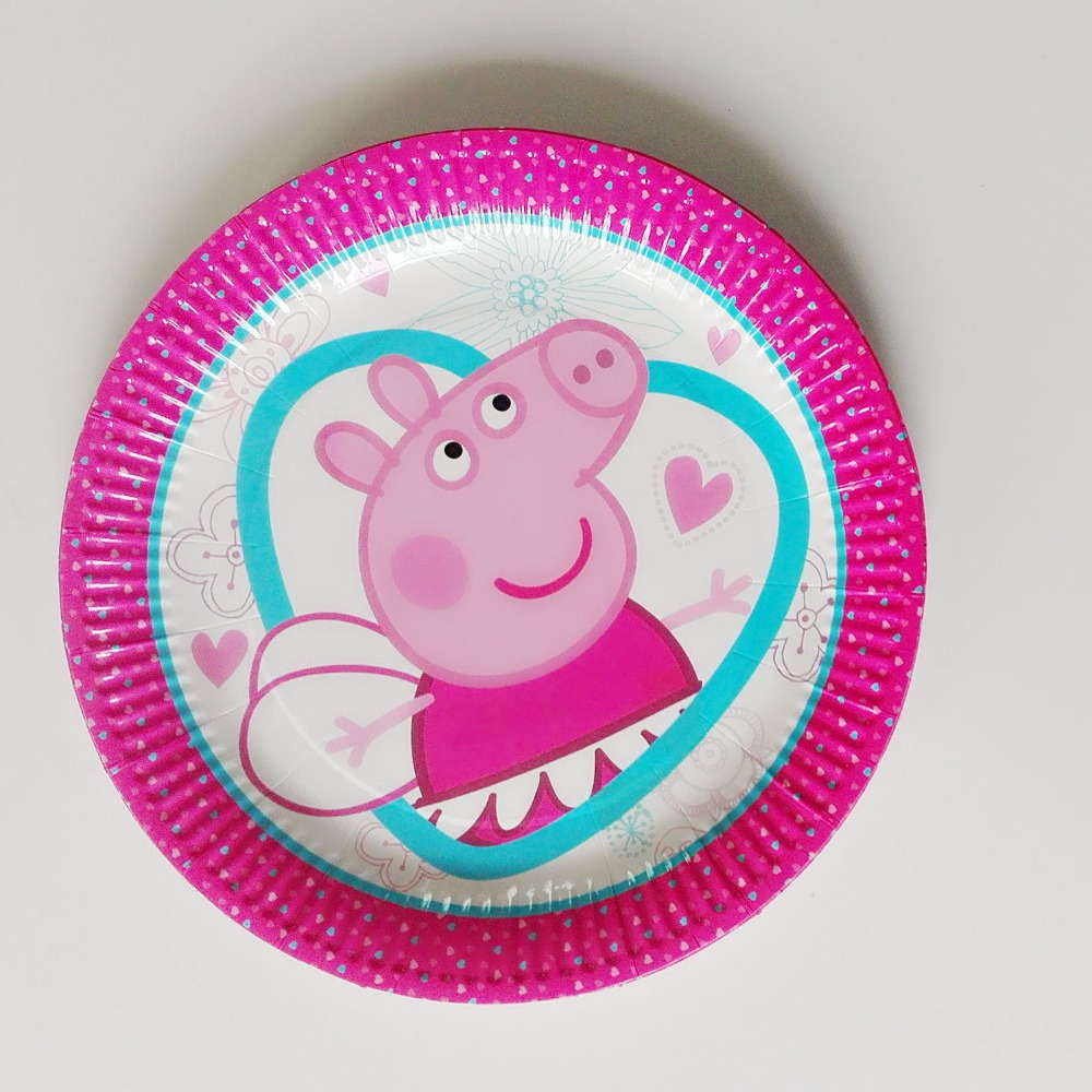 10pcs/lot 9Inch pink pig Theme Party Paper Plates cartoon decoration Children Boy Birthday/Festival Party Plates Party Supplies  sc 1 st  AliExpress.com & Plate Paper Pig Promotion-Shop for Promotional Plate Paper Pig on ...