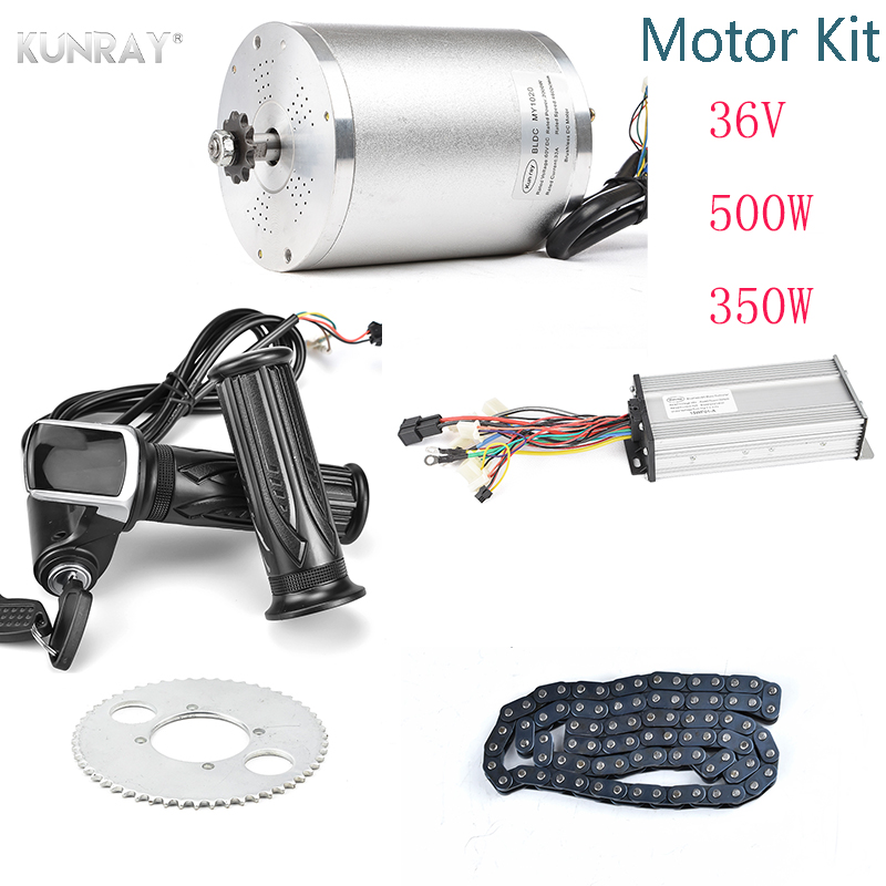 Electric Scooter Motor 36V 350W 500W Brushless DC Motor For Electric  Vehicle, With Controller LCD Display Throttle Chain Parts