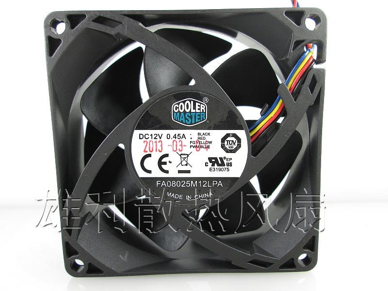 US $11.0 |Free Delivery.8CM fan FA08025M12LPA 4 wire PWM hydraulic on