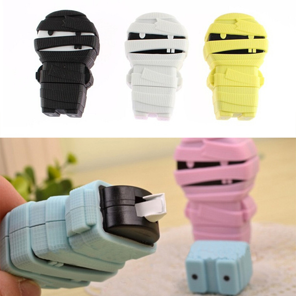 New Mummy Shape White Decorative Tape Correction Tape PVC Packed Office School Korean Stationery Supply Student Prize Escolar