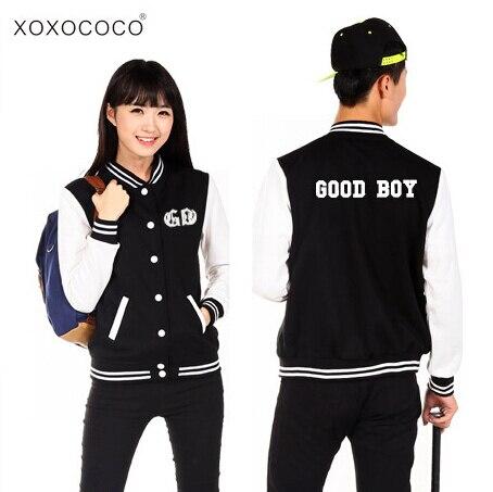 Kpop bigbang gd taeyang good boy single breasted baseball jacket preppy  style casual sportwear lovers hoodie jacket ff1faa243d6a