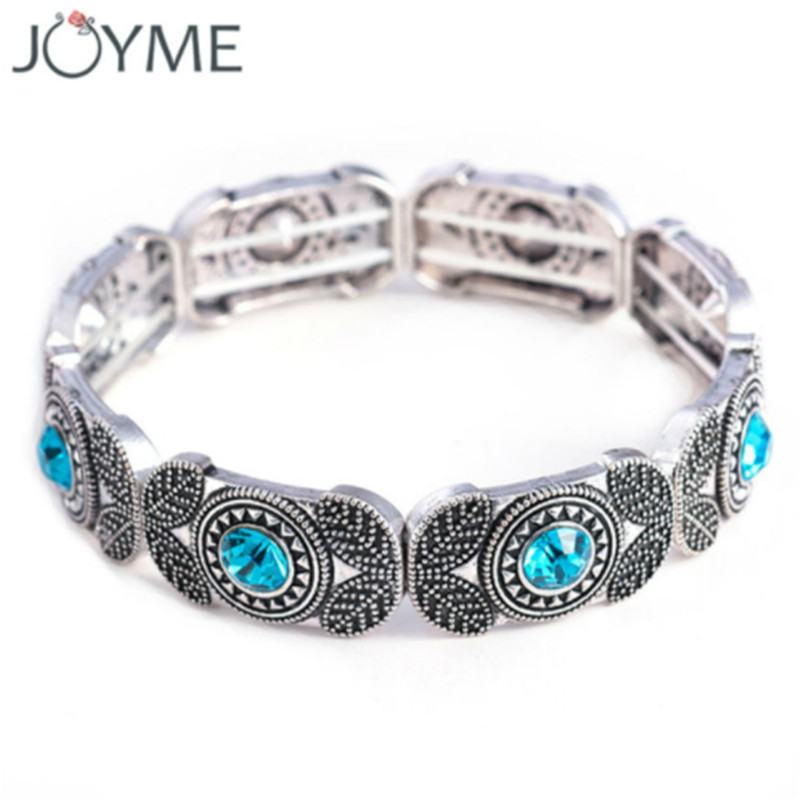 Rrathë të modës India Vintage Charm Crystal Stretch & Bangles For Women