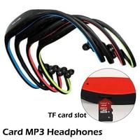 Fone de ouvido mp3 player esportivo universal, portátil, para corrida, com slot para cartão