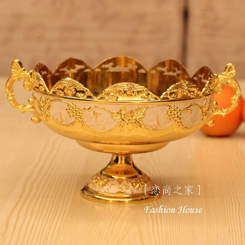Divat minőségű ötvözet luxus divat otthon ktv gyümölcslemez dekoráció cukorka lemez étel európai stílusban