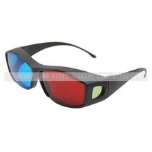 NUEVO Rojo Azul Gafas 3D Movie Dimensional Anaglyph Enmarcado 3D Vision Glasses para Juego Estéreo De Plástico gafas Happybate