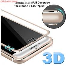 3D закаленное стекло с закругленными краями для iPhone 7 Plus 8, титановая защитная пленка, Защита экрана для iPhone 6S XS 11Pro, полное покрытие