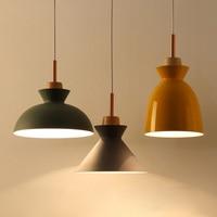 Macarons chandelier lamp modern minimalist restaurant creative personality bar three Nordic head lamp iron balcony logs